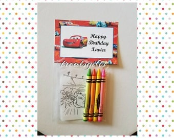 Cars crayons - crayons - Cars birthday - Cars party - Cars party favors - cars - cars goodie bags - cars ideas - cars3 birthday - Disney car