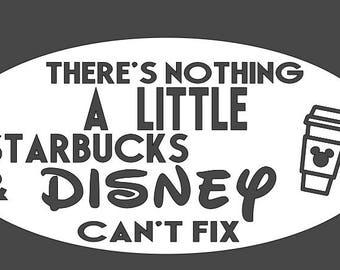 Starbucks & Disney car decal