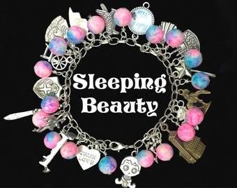Sleeping Beauty Aurora Womens Charm Bracelet