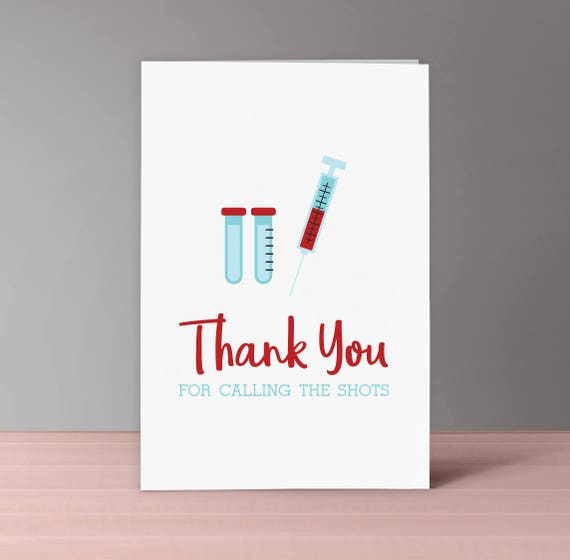 nurse thank you card set of 4 download and print nurse