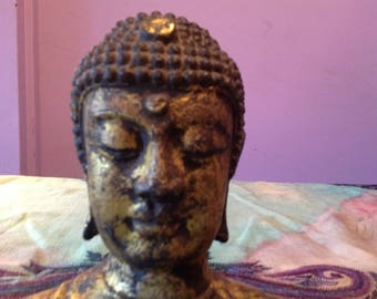 Beautiful Buddha Bust vintage mixed metal boho chic meditation space