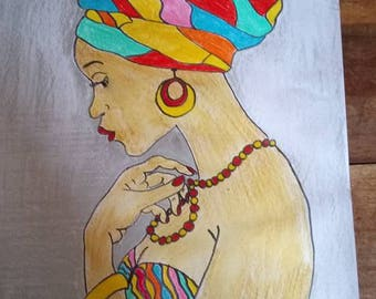 AFRICAN WOMAN DESIGNS