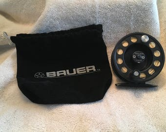 Bauer LM1 Fly Fishing Reel Made in USA with Original Bauer Black Pouch
