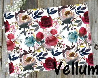 RTS November Floral // Vellum Doodle Box Ready to Ship TN Planner Ephemera Travelers Notebook