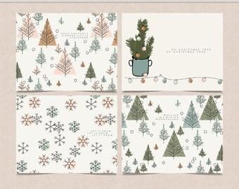 Jul Holiday - Printable - Christmas Cards - Scandinavian