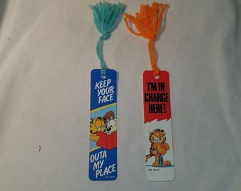 Vintage Garfield 1978 bookmarks
