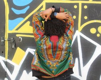 African Bomber Jacket - African jacket - Wax Bomber - Dashiki Jacket - Dashiki Bomber jacket - African Clothing - Winter Jacket -