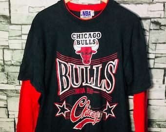 Vintage Chicago Bulls Nba team basketball 90s t shirt