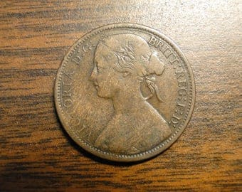 1873 Great Britain Penny - Very Nice!