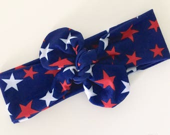 4th of July Star Knot Headband