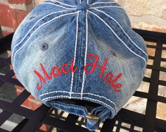 Back of Hat Embroidery