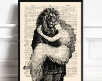 Beauty Beast Poster, Book Lover Gift, Beauty Beast Decor, Beauty And The Beast, Wedding Gift, Gift Woman Print Girl Poster Gift Literary 503