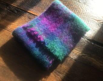 Handwoven Irish Wool Fringed Scarf