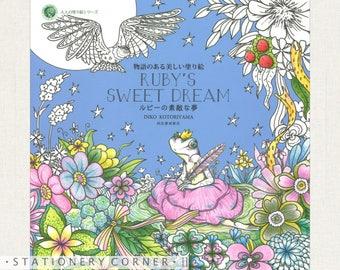 Rubys Sweet Dream Colouring Book Inko Kotoriyama Fairytale Story Animal Nature Bird