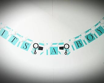Baby and Co. Banner/ Baby Shower Banner/ It's a Boy/It's a Girl