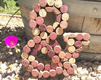 "Wine cork sign,""&"" sign, wine cork wall art, wall art, home decor"