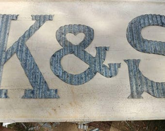 Large Corrugated Metal Letters Small To Extra Large Corrugated Metal Letters