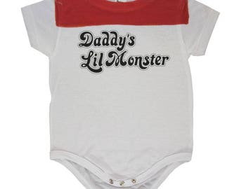 Daddy's Lil Little Monster All Over Baby One Piece