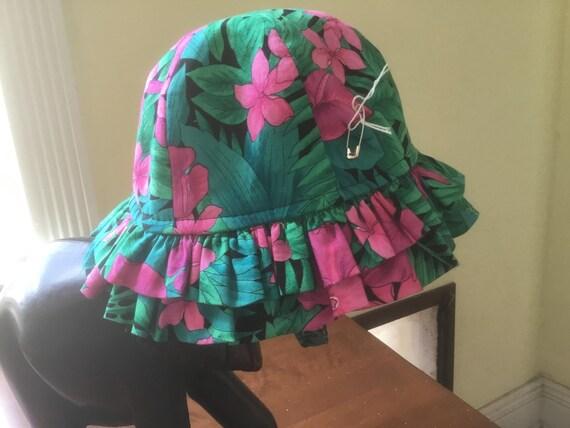Hawaiian Ruffle Baby Hat