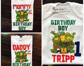 Teenage Mutant Ninja Turtles Customized Birthday Tees (REQUEST ANY CHARACTER)
