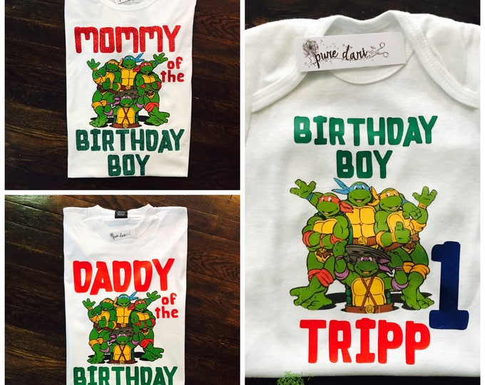 Teenage Mutant Ninja Turtles Customized Birthday Tees (REQUEST ANY CHARACTER)