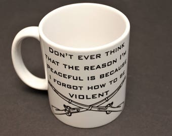 Punisher, Punisher mug, cross rifles, Infantry, infantryman, Gift for him, Military, Army, USA, American Flag, America,