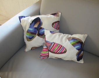 "Set of two cotton ""Sneaker cushion"""