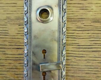 """Antique Decorative Brass Door Plate 3"""" x 10"""""""