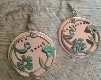 Chris Cornell earrings copper handstamped sweet sunshower