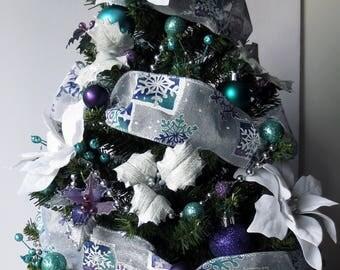 Winter Wonderland, tabletop Christmas Tree, Christmas Decoration, OOAK Christmas, Topiary Tree, Mini Christmas Tree, Home Decor, Handmade