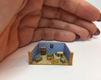 Miniature micro 1:288th scale room box diorama baby room set 1 cm small