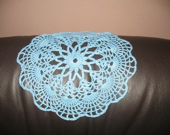 Round small DOILY blue 22 cm in diameter
