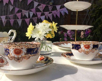 Vintage Imari tea cup and saucer by Standard China, 1920s teacup and saucer one set available only