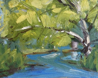 High Water- Boise River Outlet Original Plein Air Painting