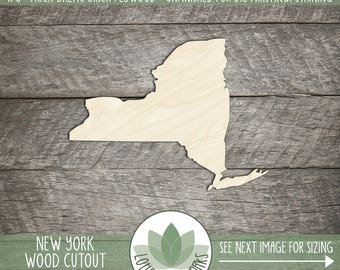 New York, Unfinished Wood New York Laser Cut Shape, DIY Craft Supply, Many Size Options