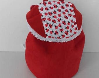 Backpack nursery school, school bag nursery school, bag for day-nursery(crib), bag nanny, bag school girl ladybird.