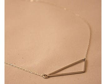 Necklace asymmetrical triangle
