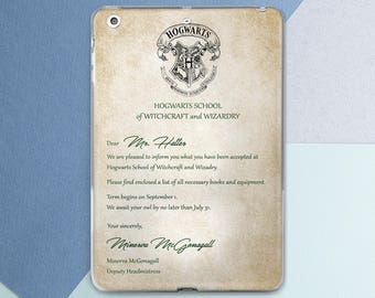 Harry Potter Acceptance Letter Personalized iPad case Harry Potter iPad mini case iPad air 2 case Harry Potter iPad pro case iPad 5 case