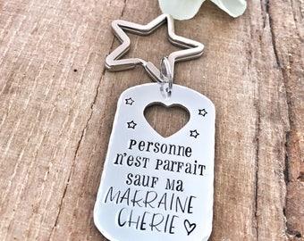 Marraine Cadeau Keychain, Marraine Porte Clé, Marraine Gift