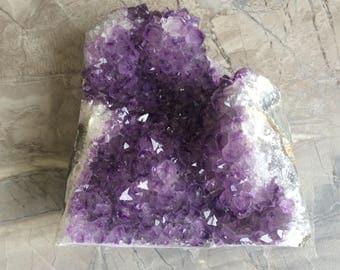 Raw Amethyst Crystal Geode Cluster