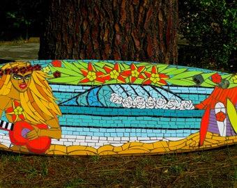 Surf mosaïque vahiné à la demande