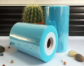 Tulle roll high quality Blue/Turquoise 15 cm x 82 m tutu and room decoration