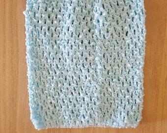STRAPLESS stretch light blue crochet for creating dress 0-16 month TUTU