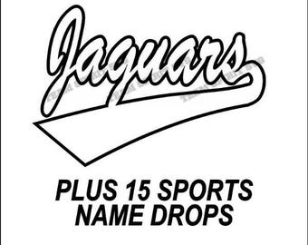 Jaguars Swoosh Download Files - SVG, DXF, EPS, Silhouette Studio, Vinyl Cutting Files, Digital Cut Files - Use with Cricut and Silhouette