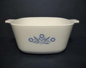Corning Ware Blue Cornflower P-1 3/4-B Casserole Dish