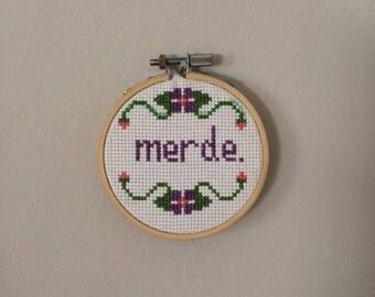 Merde Cross Stitch