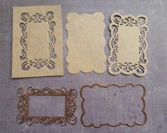Die cut Stencil Creative Expressions Rectangle Tag