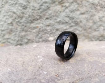 Wood Ring, Wood Wedding, Gift for Him, Gift for Her, Wooden Wedding Band, Couples Rings, Wooden Ring, Anniversary Gift, Solid Ebony Wood