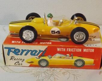 Ferrari racing car. ZEE. voiture à friction. Old car. Vintage. Hong Kong