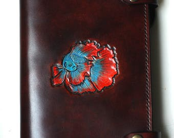 Handmade Leather notebook / book cover